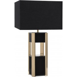 Blaise Black Glass Table Lamp