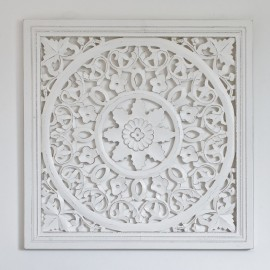 Smaller Off White Carved Wall Panels