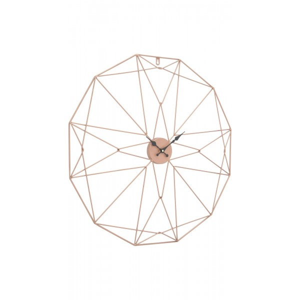 Geo Web Wall Clock - Copper