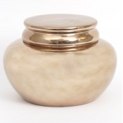 Halcyon Small Squat Gold Ginger Jar