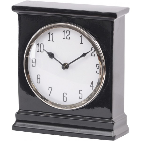 Harston Black Mantel Clock