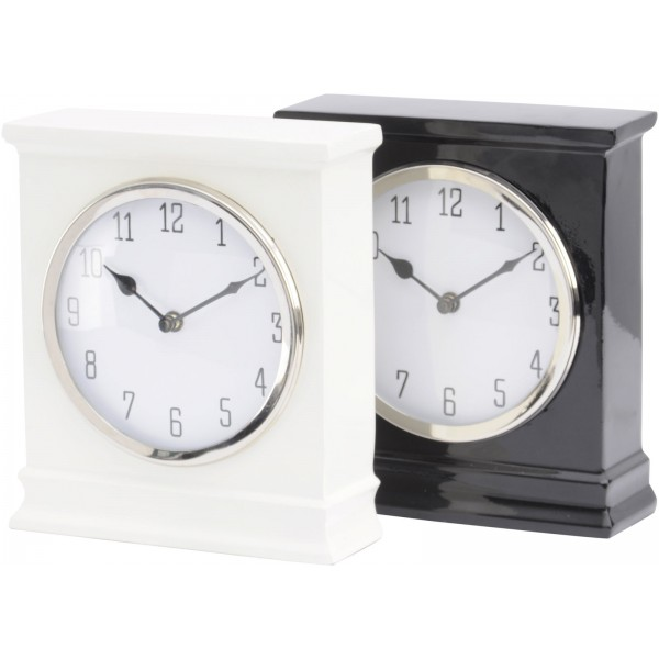 Harston Off -  White Mantel Clock