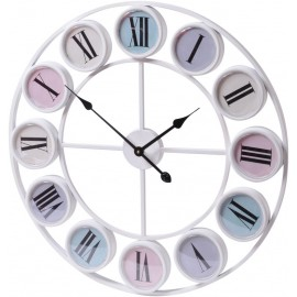 Pastels Wall Clock with Roman Numerals