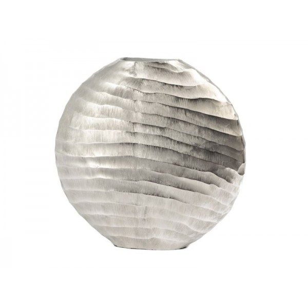 Ripples Silver Ellipse Vase - Large
