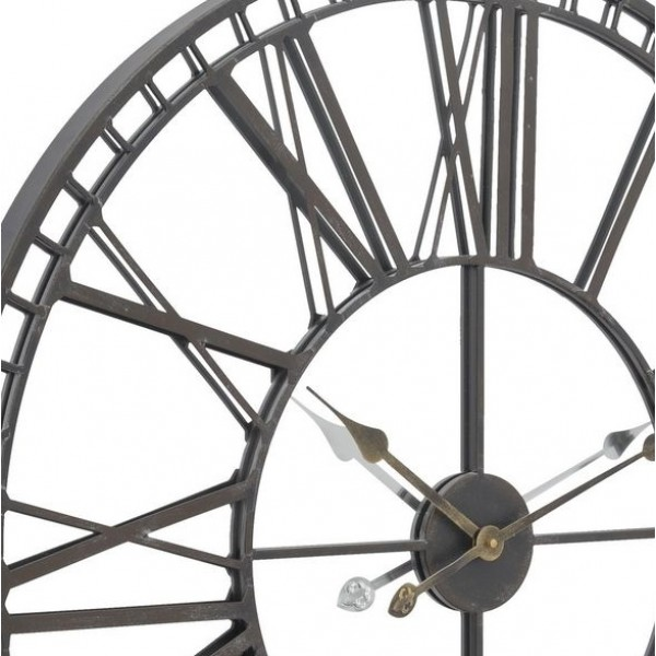 Skeleton Mirror Wall Clock