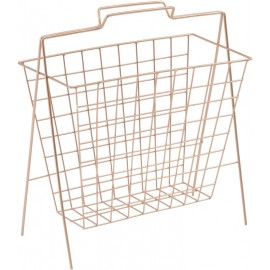 Copper Web Wire Magazine Rack