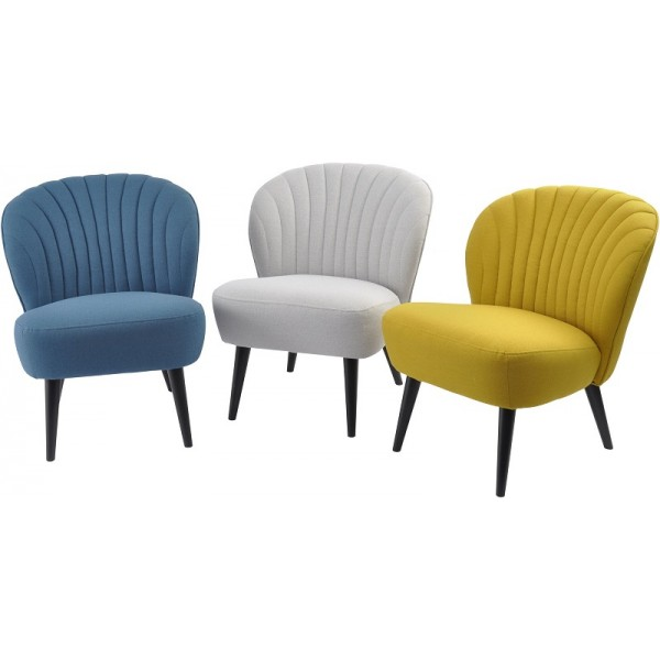 Retro Curve Shell Back Occasional Chair – Petrol Blue