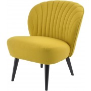 Retro Curve Shell Back Occasional Chair – Mustard Yellow