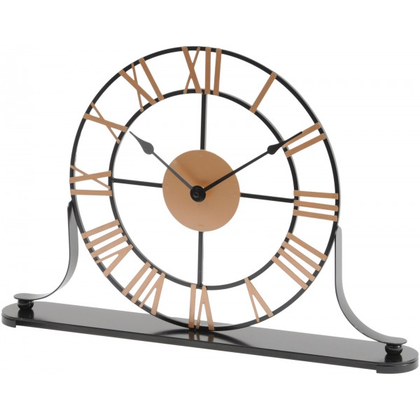 Round Skeletal Mantel Clock