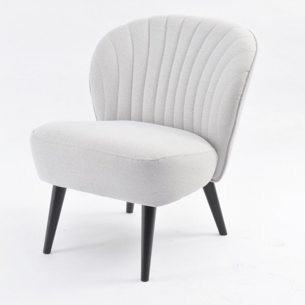 Retro Curve Shell Back Occasional Chair - Zinc