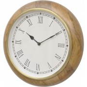Walton Gold and Natural Wood Wall Clock