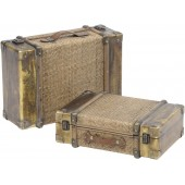 Set of Two Rattan suitcases