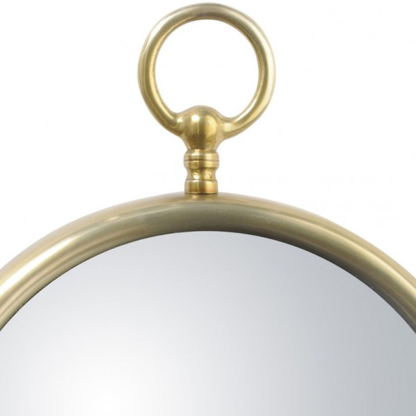 Gold Convex Mirror - Large