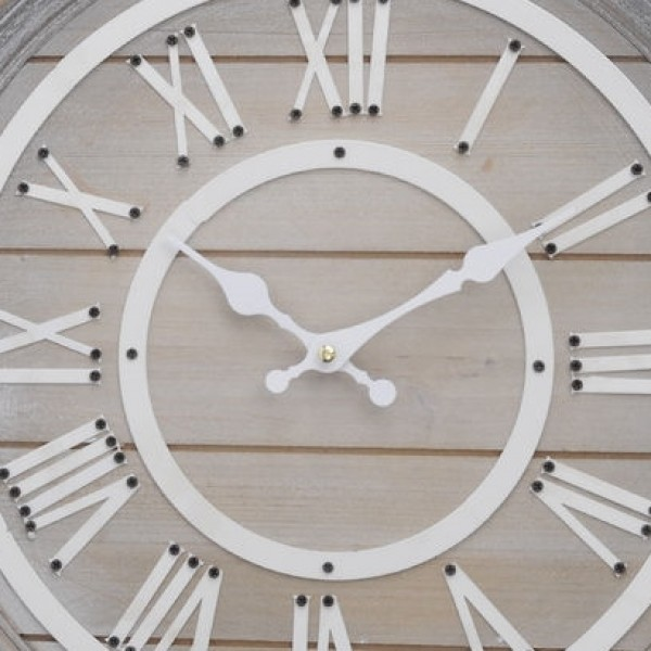 Hemsby Wooden Wall Clock - Small