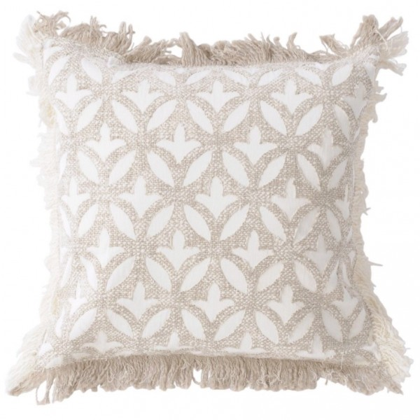 Ajmer Applique Ivory Cushion