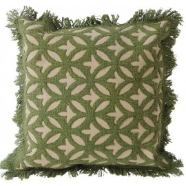 Ajmer applique Cushion - Green