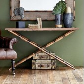 Antique Style Bamboo Console Table