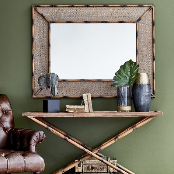 Antique Style Bamboo Mirror