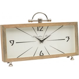 Rectangular Table Clock - Mango Wood
