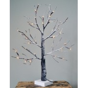 Light Up Birch Tree with Snow 60 cm