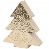 Mottled Gold Aluminium Tree - Large