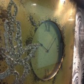 Antique Gold Coloured Metal Wall Clock