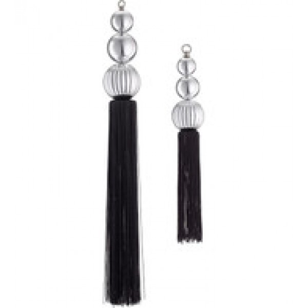 Ornate Bauble Tassels – Silver