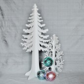 Contemporary 60 cm Wooden Conifer Tree