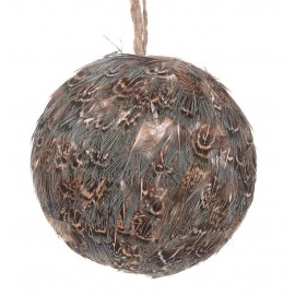 Feather hanging Bauble - 10cm