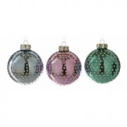 Glass Bauble with Dot Design - Set of Three