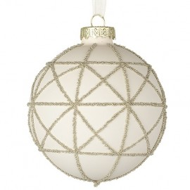 Glass Decorated Hanging Bauble