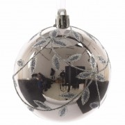 Leaf Baubles Slate Grey