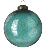Pearlescent Mottled Finish Glass Bauble