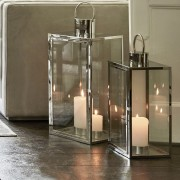 Set Of Four Silver Steel Lanterns