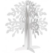 Slot together Sparkle Trees - White