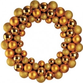 Bauble Wreath - Gold