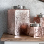 Large Jar Accessory Pink Copper Foil Glass Finish