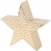 Mottled Gold Aluminium Star Large