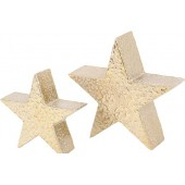 Mottled Gold Aluminium Star- Small