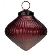Ribbed Red Glass Onion Baubles