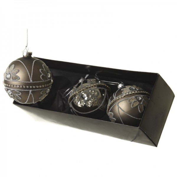 Set Of three Glass Baubles
