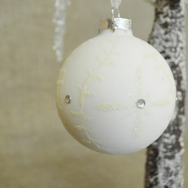 Silent Frost Glass Baubles