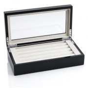 Black Cufflink Box with  a High Gloss Finish