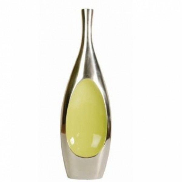 Enamel Droplet Vase - Lime Green