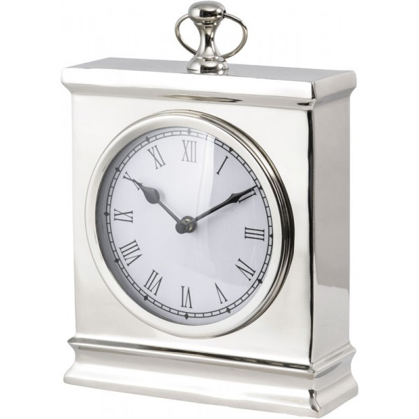Amesbury Nickel Mantel Clock Large