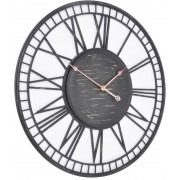 Aged Iron Skeletal Wall Clock