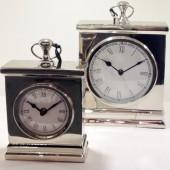 Amesbury Nickel Mantel Clock Large