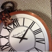 Charleston Copper Round Mantel Clock-Small