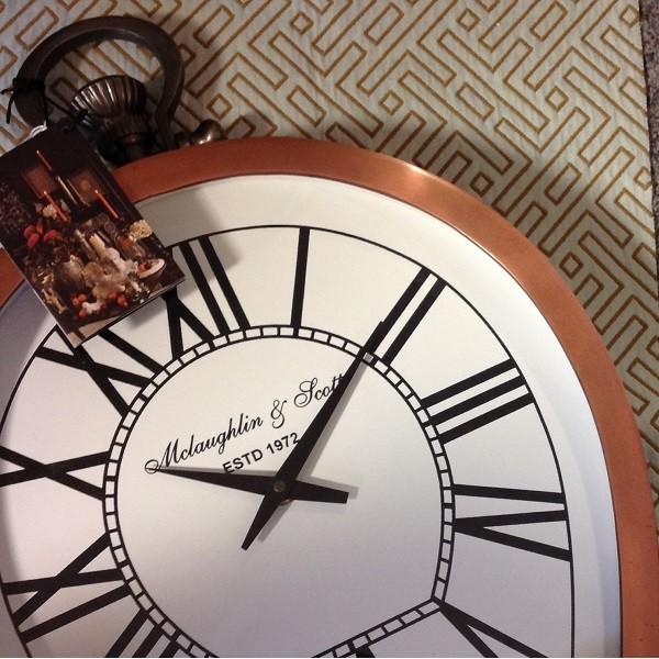 Charleston Copper Round Mantel Clock-Small
