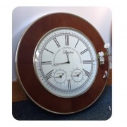Morton Leather wall Clock with Roman Numerals